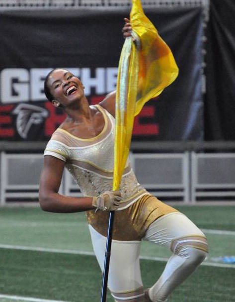 Gold Unitard Guard Uniform