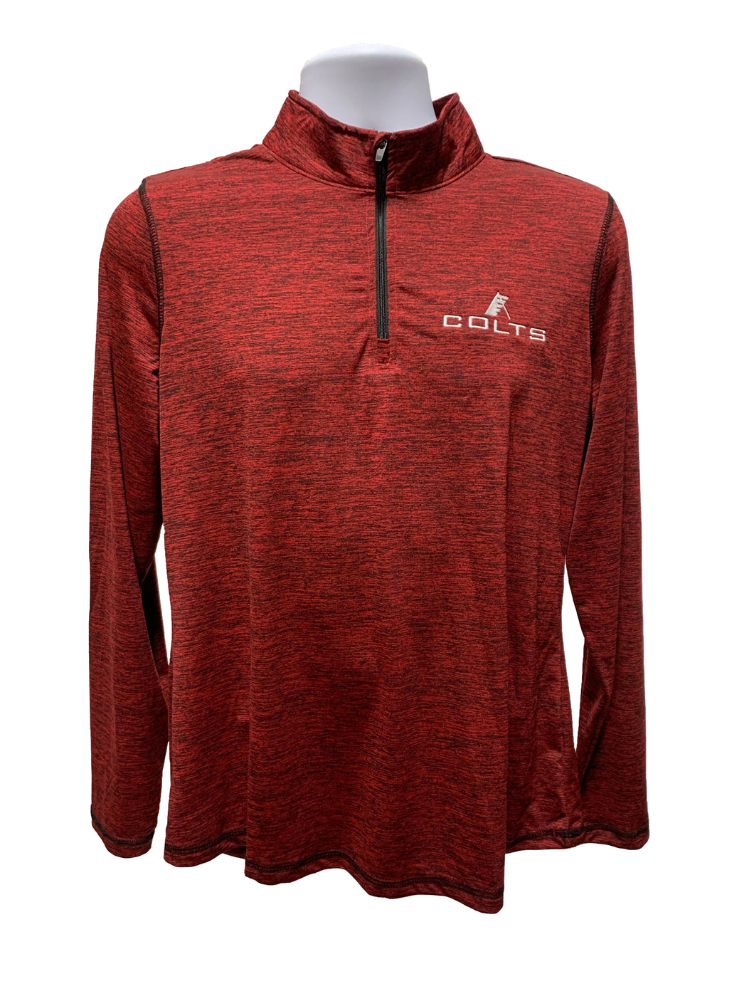 Colts Women's Red Heather 1/4 Zip