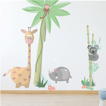 Afbeelding in Gallery-weergave laden, Jungle muurstickers | Jungly jungle - Complete set muurstickers - LM Baby Art