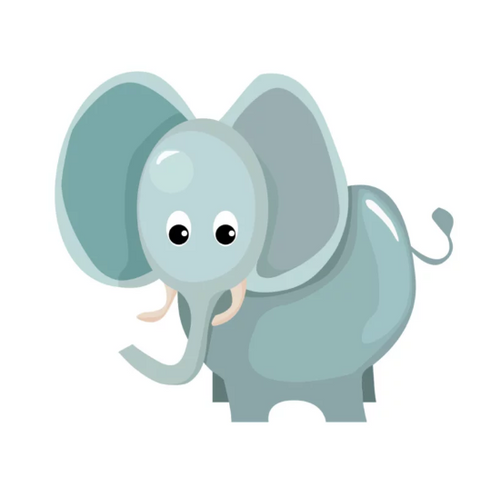Jungly jungle - Olifant muursticker - LM Baby Art