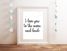 Afbeelding in Gallery-weergave laden, I love you to the moon... - Poster - LM Baby Art