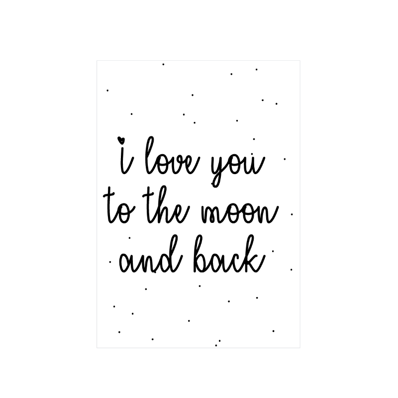 I love you to the moon... - Poster - LM Baby Art