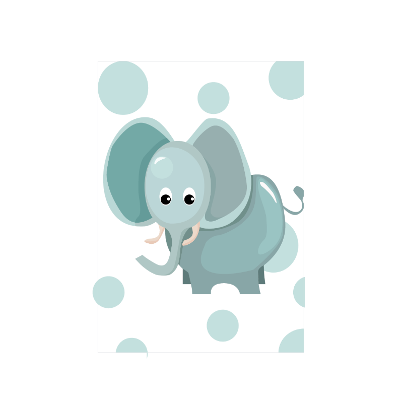 Jungly jungle - Olifant poster - LM Baby Art