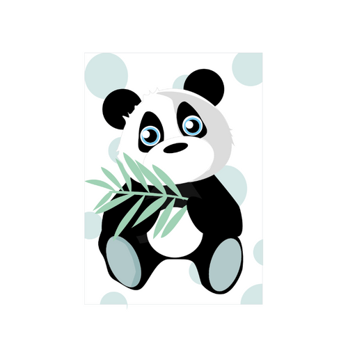 Jungly jungle - Panda poster - LM Baby Art