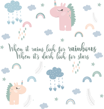 Afbeelding in Gallery-weergave laden, My little rainbow - Complete set muurstickers - LM Baby Art