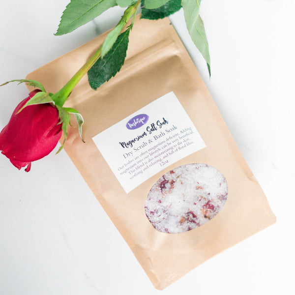 Magnesium Salt Soak- Dry Rub & Bath Soak