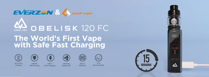 Geekvape Obelisk 120 FC Z Kit 3700mah with Fast Charger