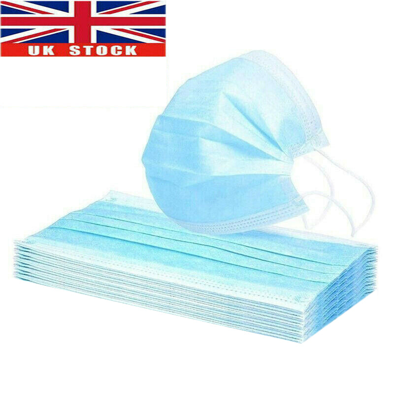 [UK Warehouse]3-layer Disposable Face Masks 5pcs