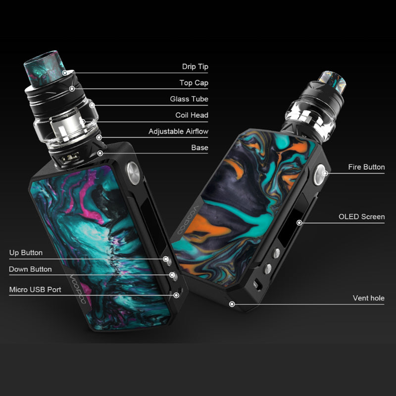 VOOPOO Drag 2 177W Starter Kit with Uforce T2 Tank