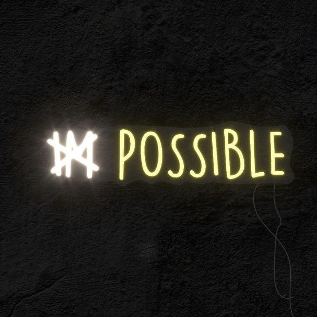 """IM Possible"" LED Neon Light Sign VCreationZ Neon Signs 🧪"