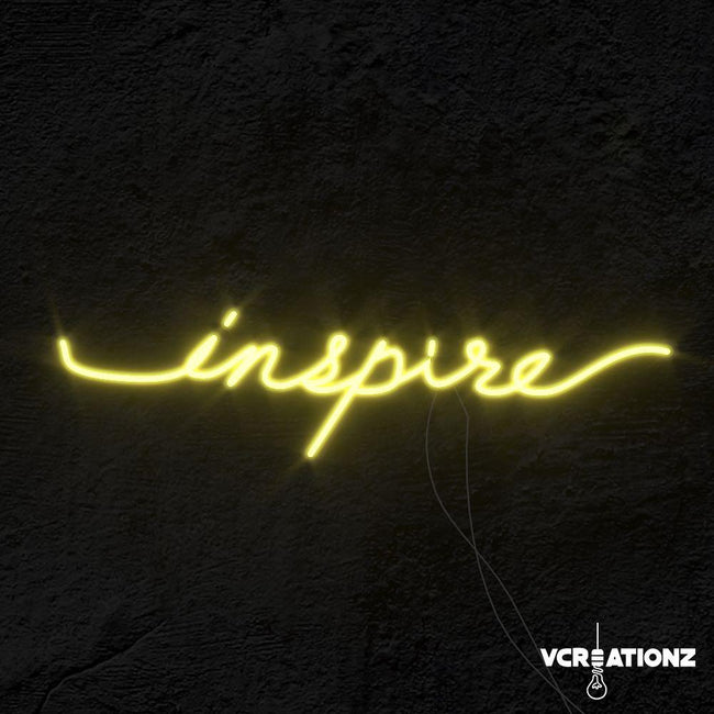 """Inspire"" LED Neon Light Sign VCreationZ Neon Signs 🧪"