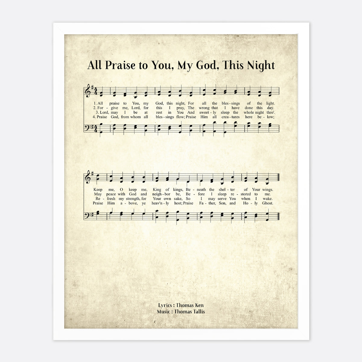 All Praise To You My God This Night