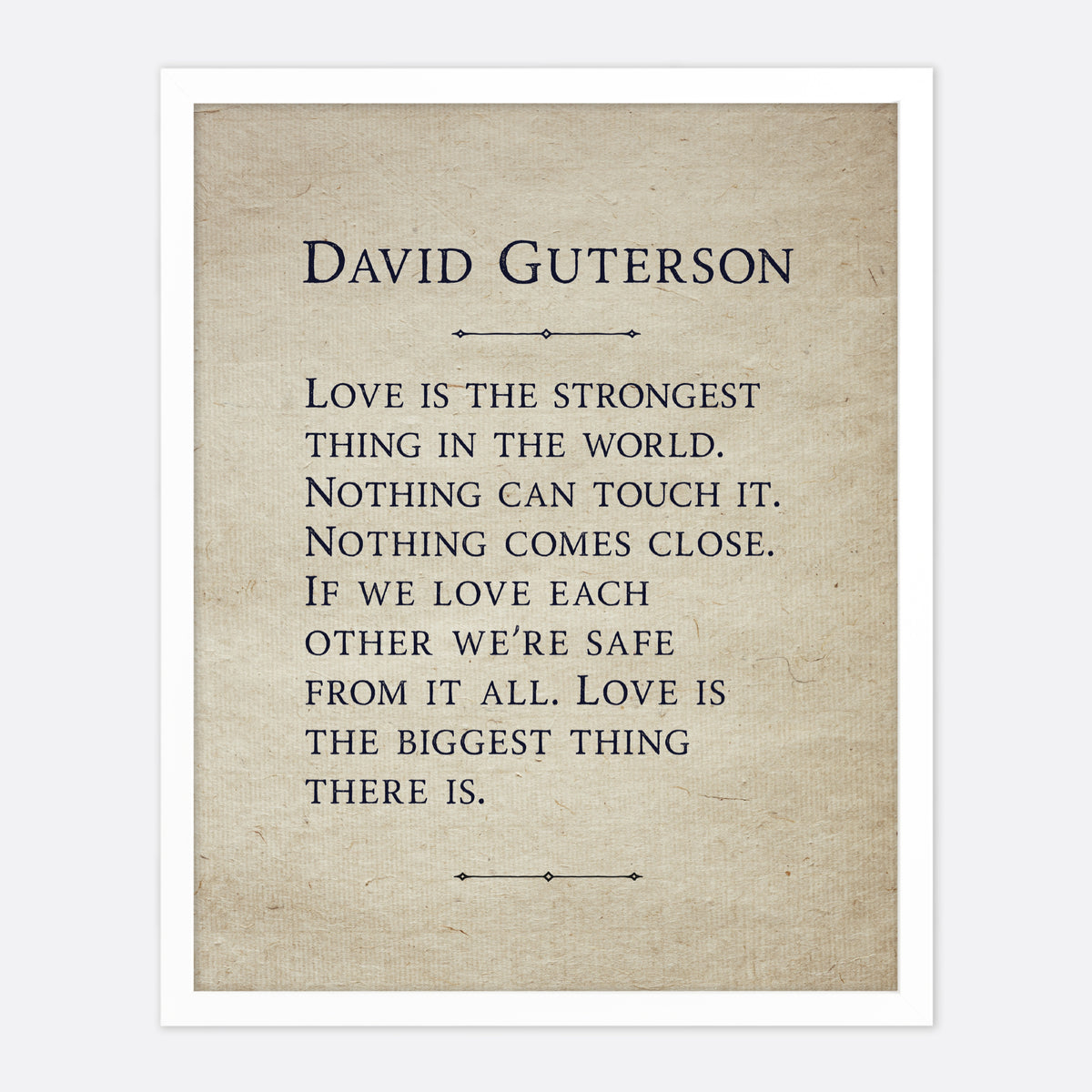 D. Guterson Love Is