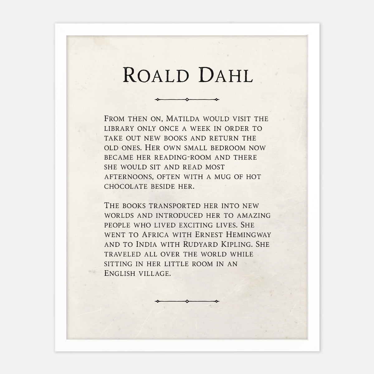 Roald Dahl From Then On