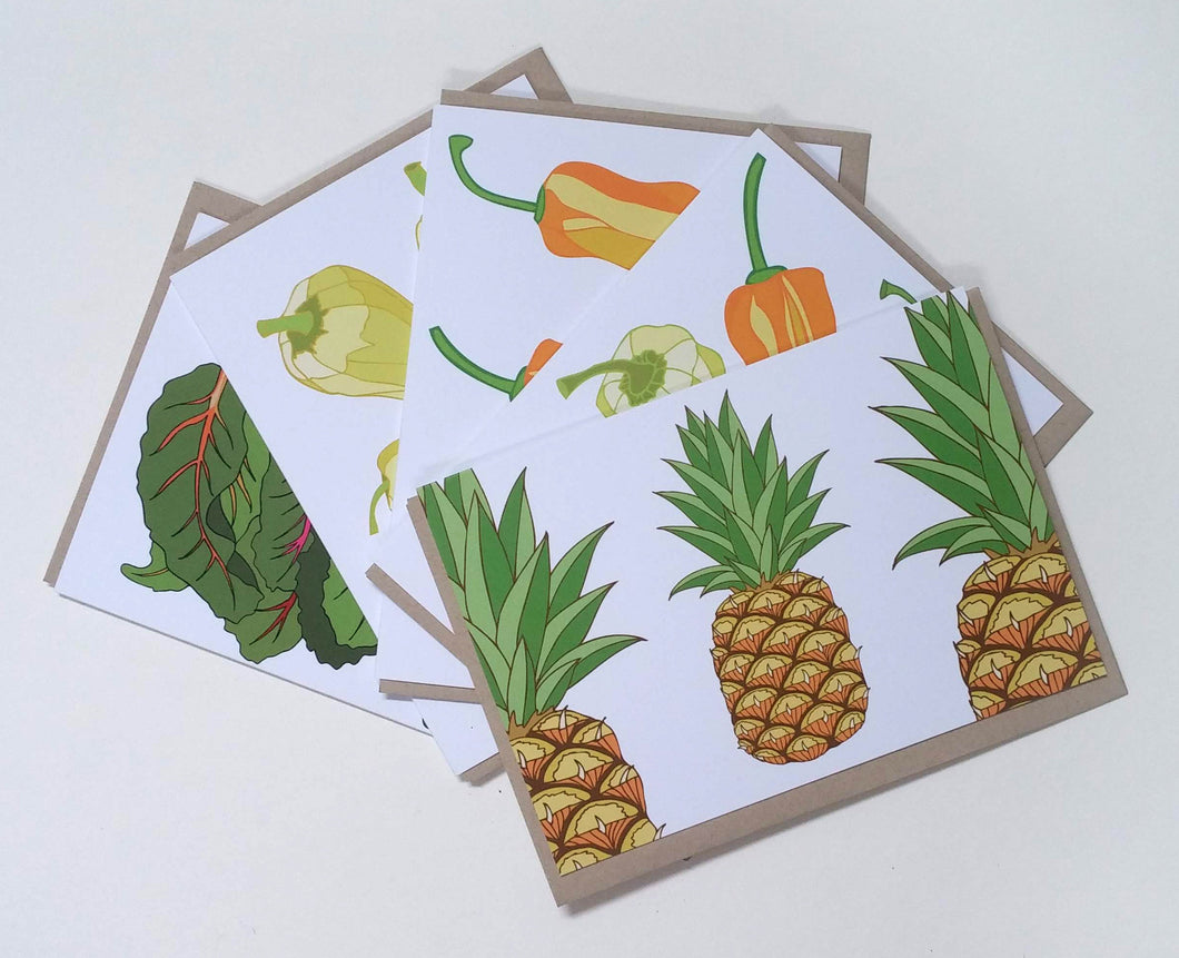 Pineapple Salsa Greeting Cards