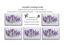 Load image into Gallery viewer, Lavender Greeting Cards
