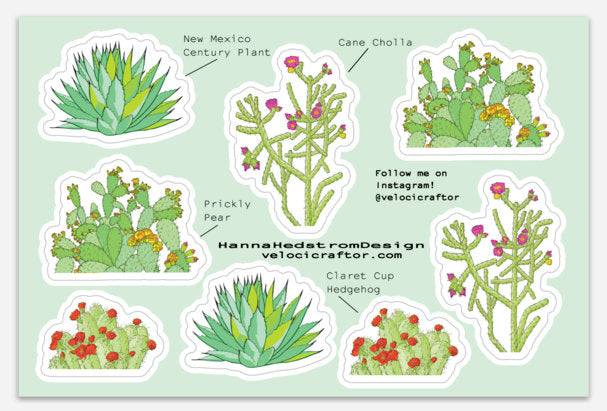 Cactus Sticker Sheet