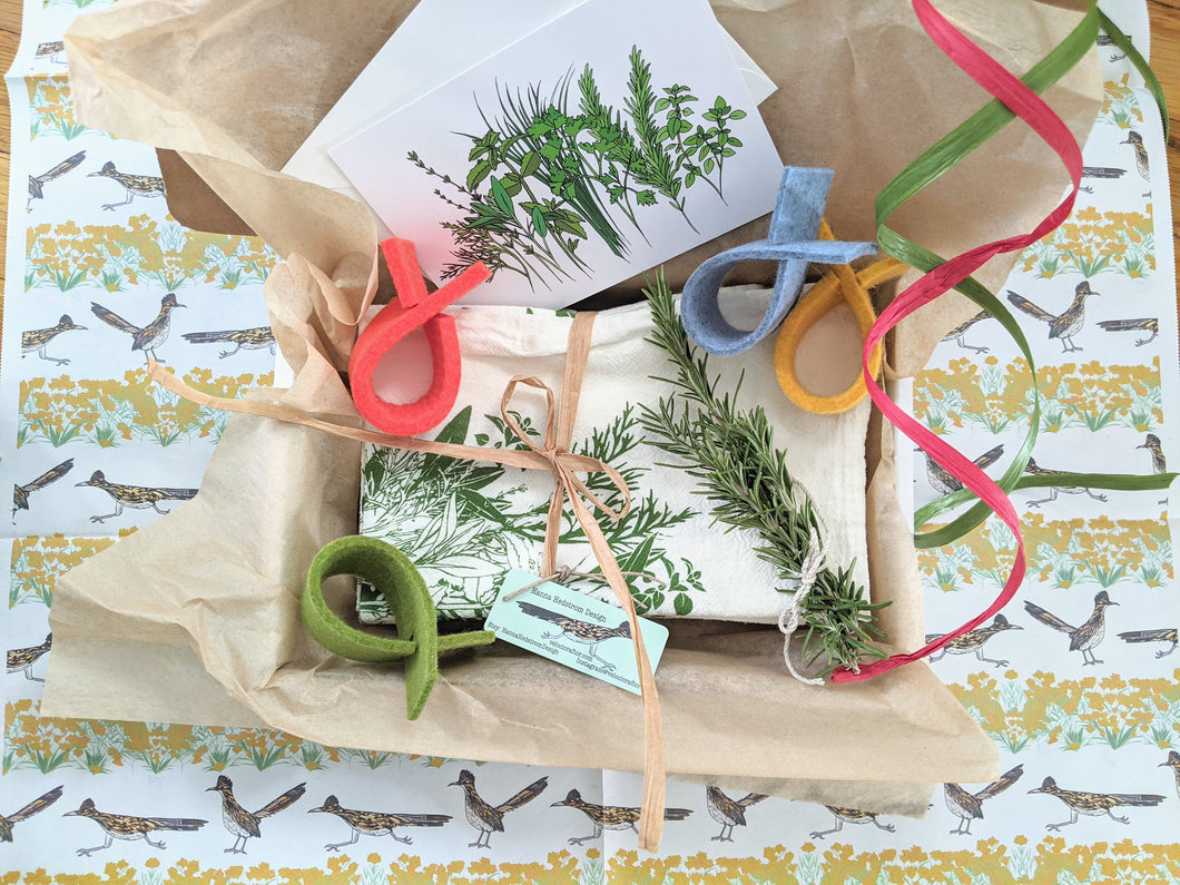Herbal Print Napkin Gift Box