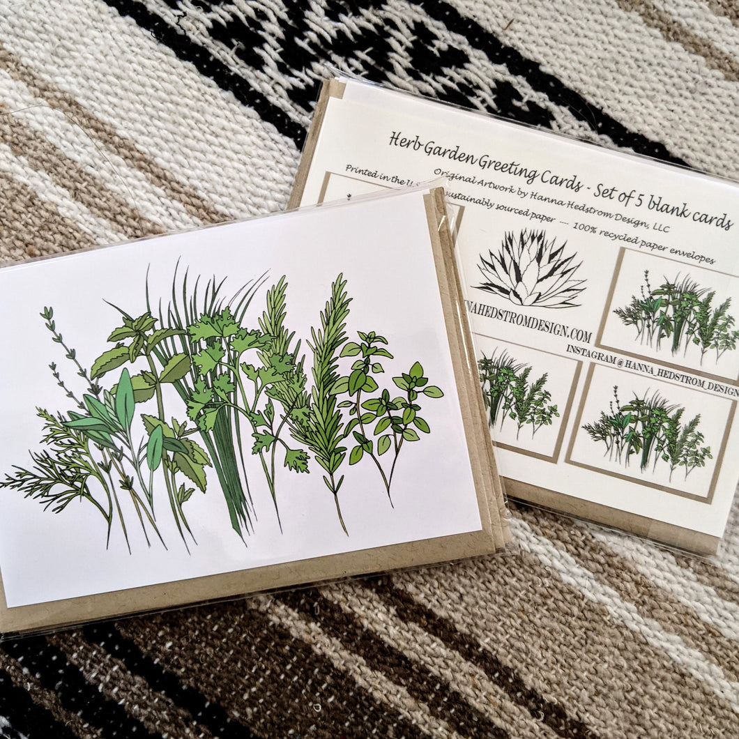 Herb Garden Greeting Cards