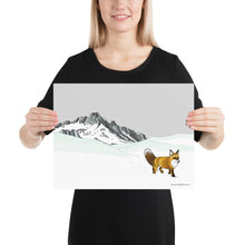 Load image into Gallery viewer, Sierra Nevada Red Fox Poster