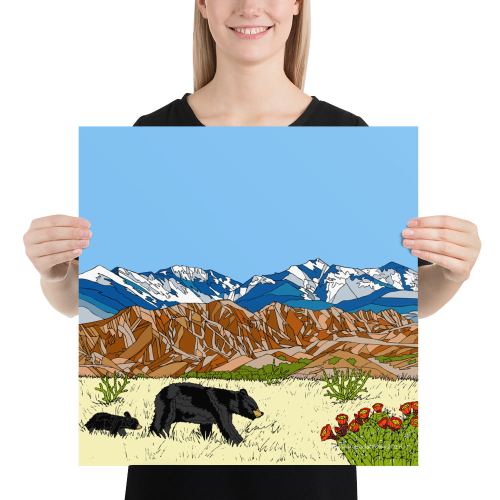 New Mexico Black Bears Poster
