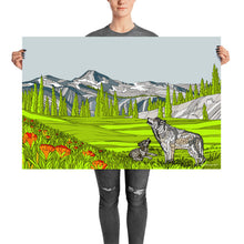 Load image into Gallery viewer, Eagle Cap Wilderness Wolves Poster