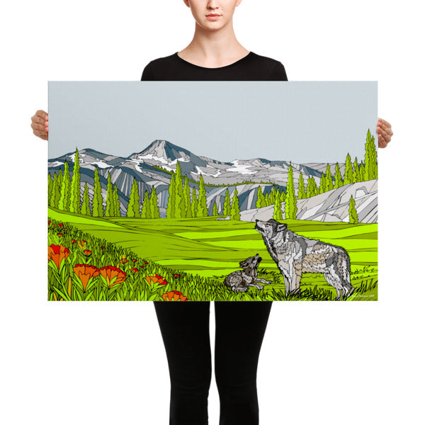 Eagle Cap Wilderness Wolves Canvas