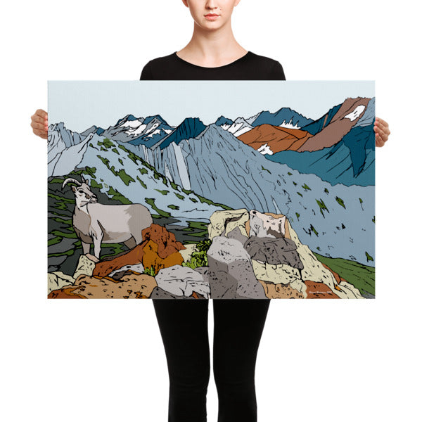 Sierra Nevada Bighorn Sheep Canvas