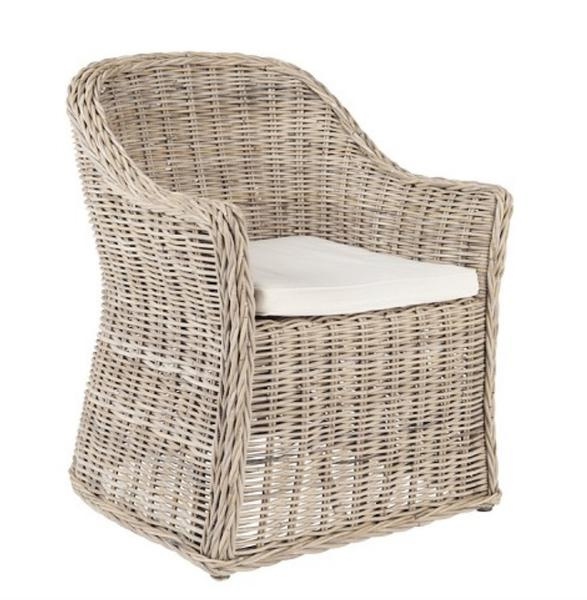 Catarina Cross Wicker Dining Chair - Set of 2