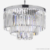 Collins Art Deco Odeon Chandelier | 1920s lighting | Crystal Fringed Chandelier | Art Deco | Odeon | The London Factory