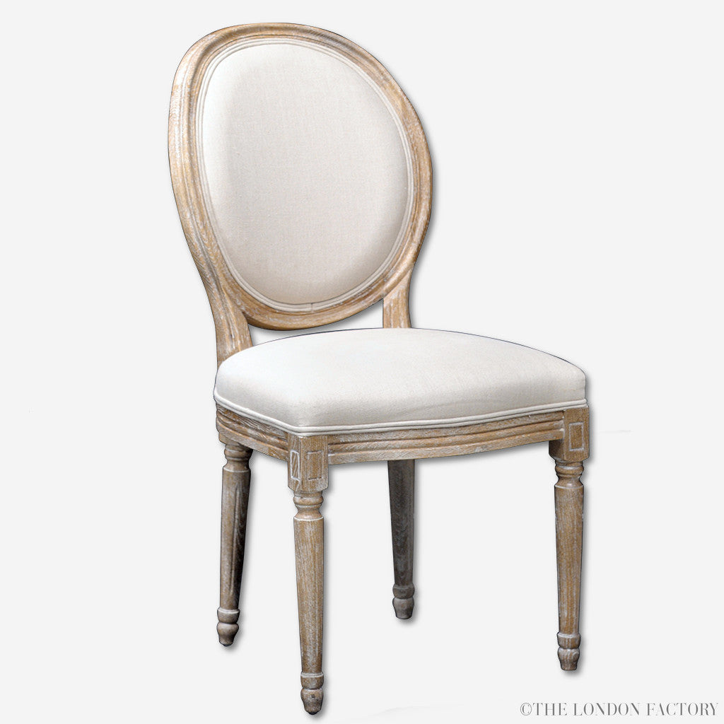 Earl Dining Chair | Upholstered Seat | French Shabby Chic | The London Factory