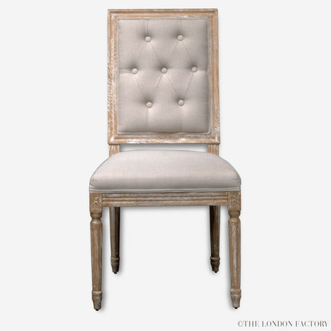 Grove Tufted Dining Chair | Tufted | Upholstered | Limed Solid Wood