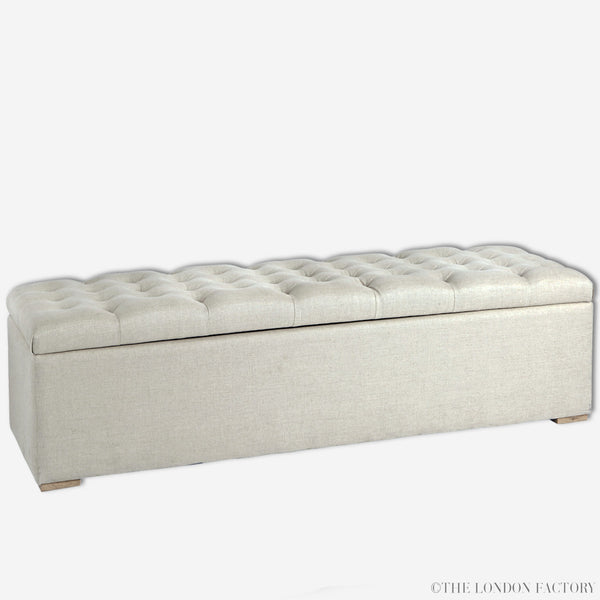 Hazel Tufted Storage Bench | French Upholstered Footboard