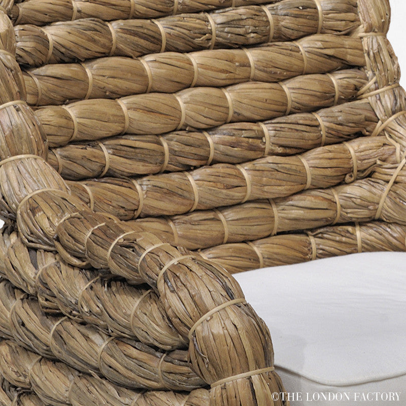 Seagrass Wicker Banana Leaf Occasional Arm Chair – The ...
