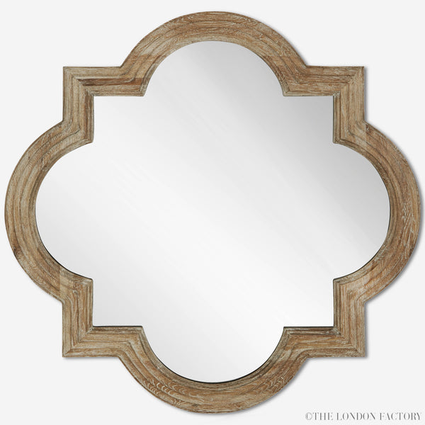 Apollo Quatrefoil Mirror | Coastal Beach Cottage Custom Mirror | The London Factory