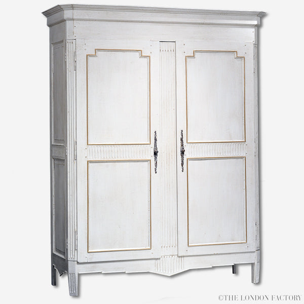 French Armoire Display Cabinet Antique Wardrobe