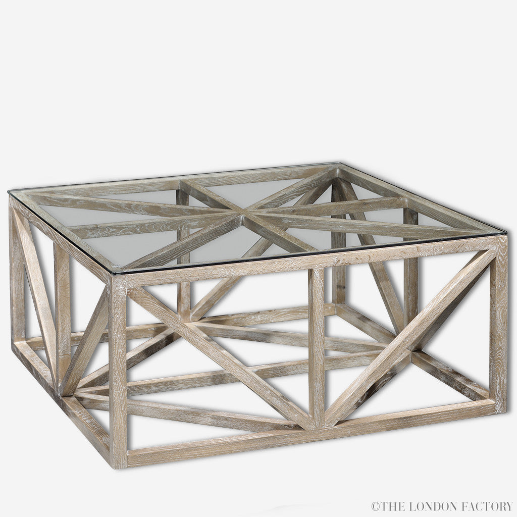 City Geometric Coffee Table | Glass Occasional Table | The London Factory