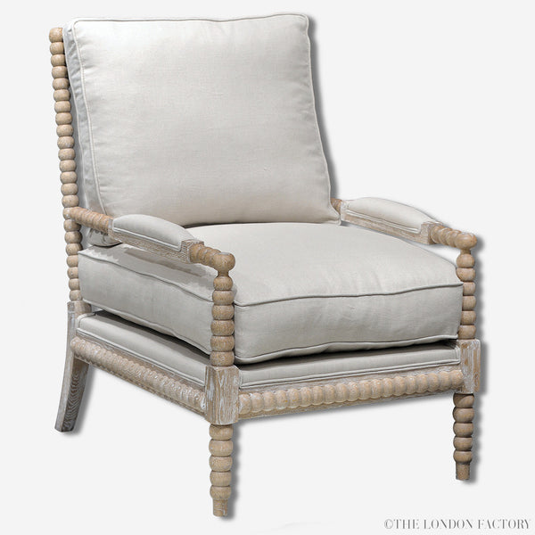 Kensington Chair | Spool Spindle Bobbin Arm Chair