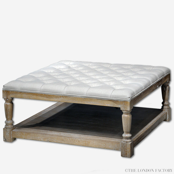 Kingsbury Ottoman Table | French Tufted Occasional Coffee Table | The London Factory