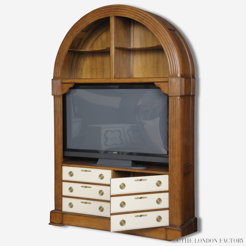 Knightsbridge Display Cabinet | French TV Cabinet | Solid Wood Book Case | Mohogany Veneer | The London Factory
