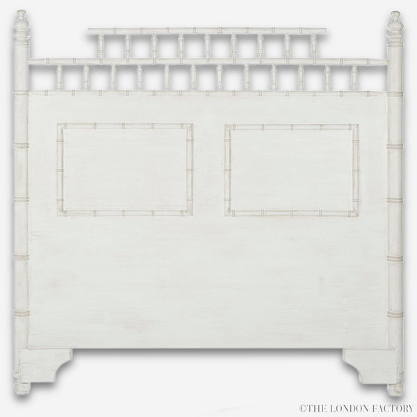Pagoda Headboard Bed Chinese Chippendale Chinoiserie Chic Head board & Beds