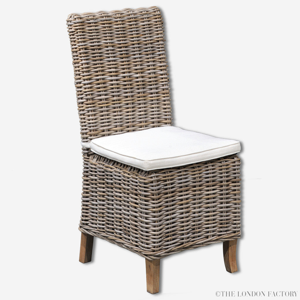 Palma Rattan Dining Chair | Seagrass | Wicker Dining Chair | Outdoor | The London Factory