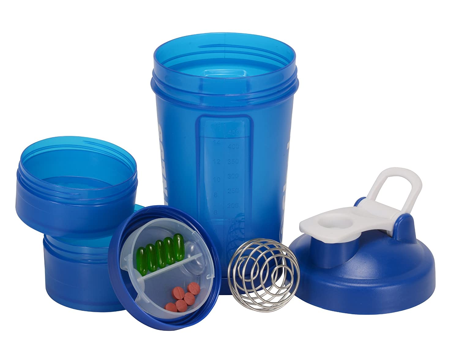 iShake Easy Stack Shaker Bottle Blue