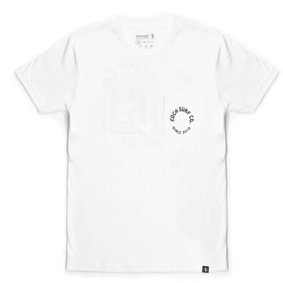 Sol Mens White Pocket Tee