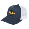 Brutus Hat Navy and White