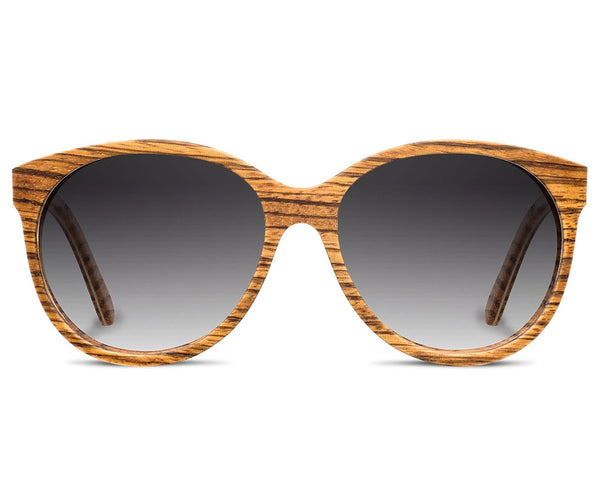 Eyewear - Shwood Madison Zebrawood Grey Fade