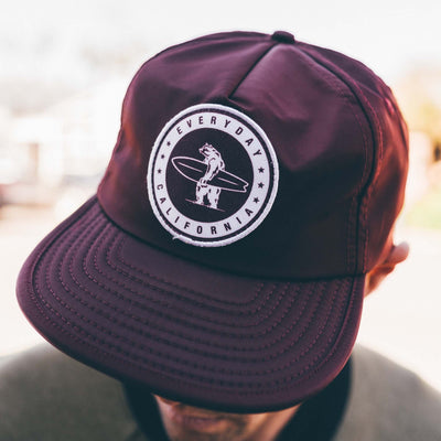 Headwear - Floating Waterproof Snapback Maroon