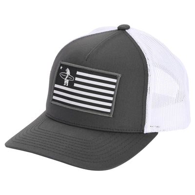 Headwear - Liberty Charcoal And White
