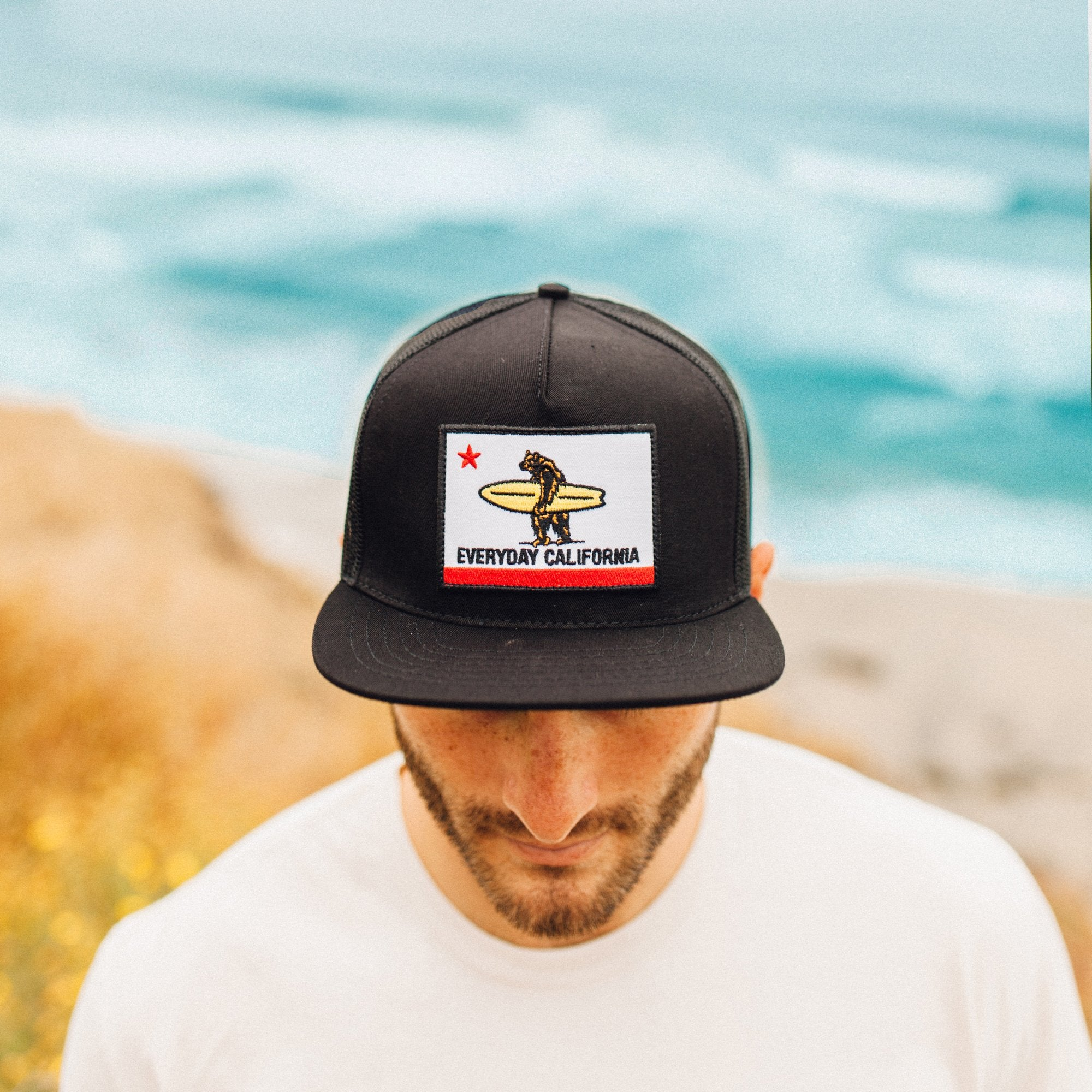 40081daa474e1 Shores    Black California Flag Trucker Hat - Everyday California