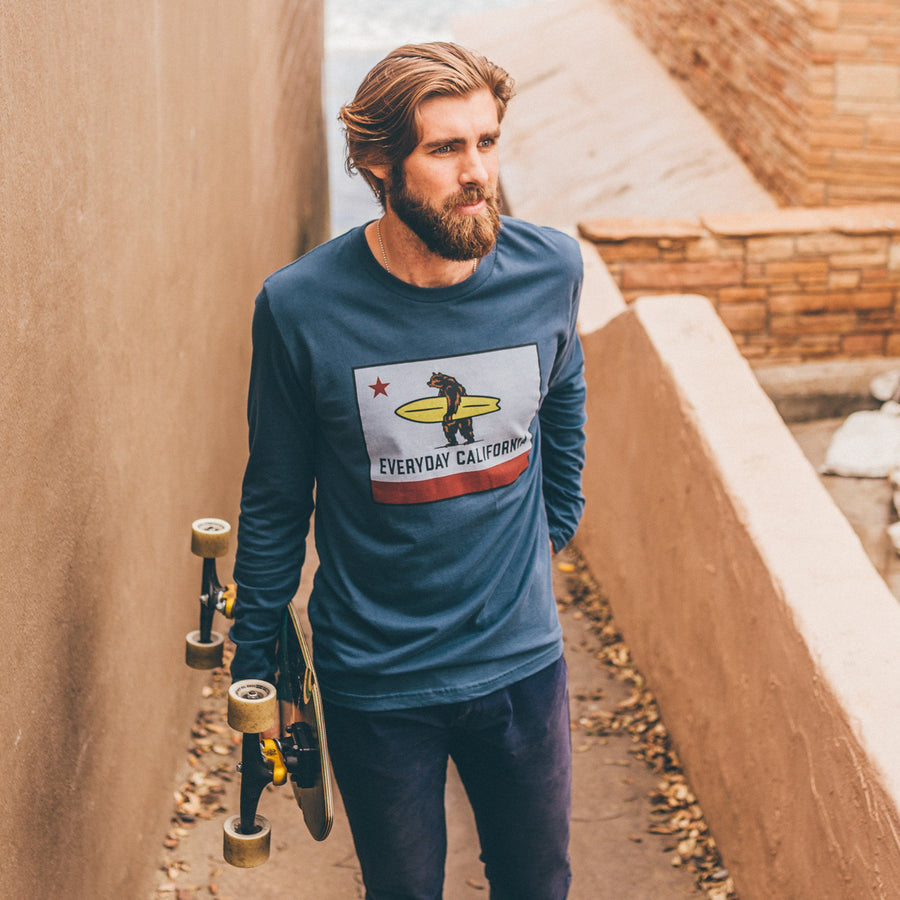 Men's Tees - El Classico Long Sleeve Indigo